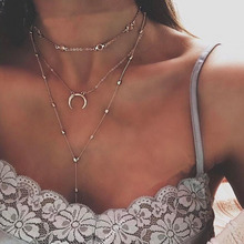 LISMLISM Multilayer Chain Necklace Women Necklaces Jewelry M