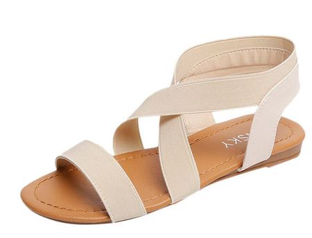 yeeloca-2020-peep-toe-women-summer-beach-sandals-girl-lady-a001-holiday-anti-skidding-stretch-cross-rg005