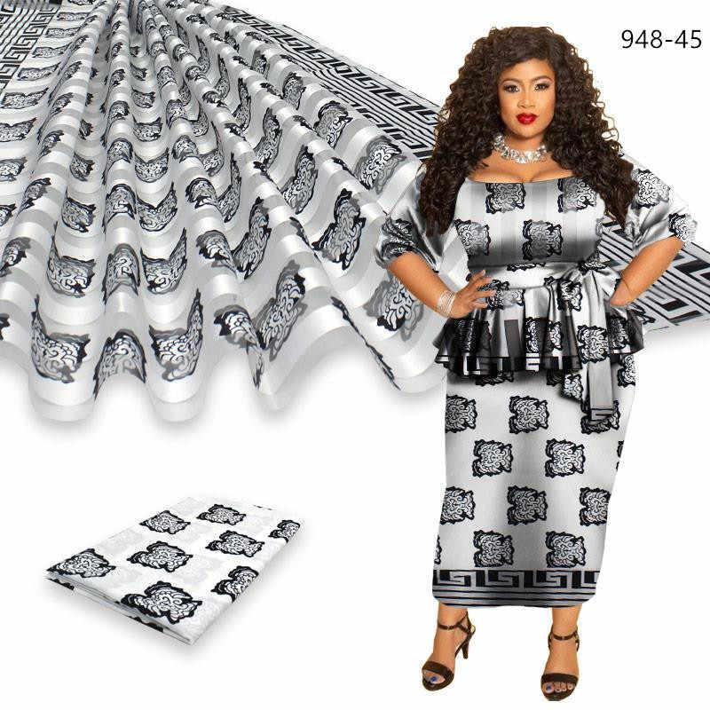 아프리카 fRibbon abric 드레스 아프리카 실크 ankara 패브릭 고품질 2020 최신 새틴 왁 스 의류 4 + 2y에 대 한! 948