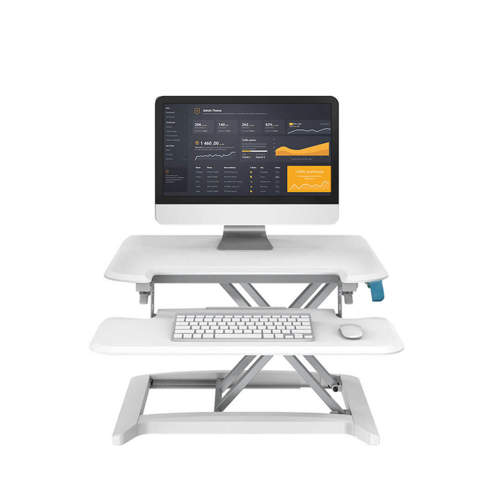 Sit-Stand Desk Riser Loctek Sit-Stand Workstation Height Adjustable Computer Laptop Desk With Removable Keyboard Tray