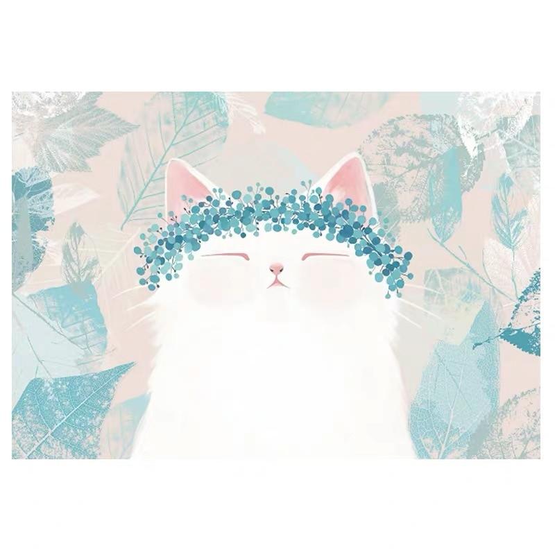 Us 160 Custom Any Size 3d Photo Wallpaper Cartoon Cat Cute Murals Childrens Room Bedroom Living Room Background Mural Wallpaper 8d On Aliexpress