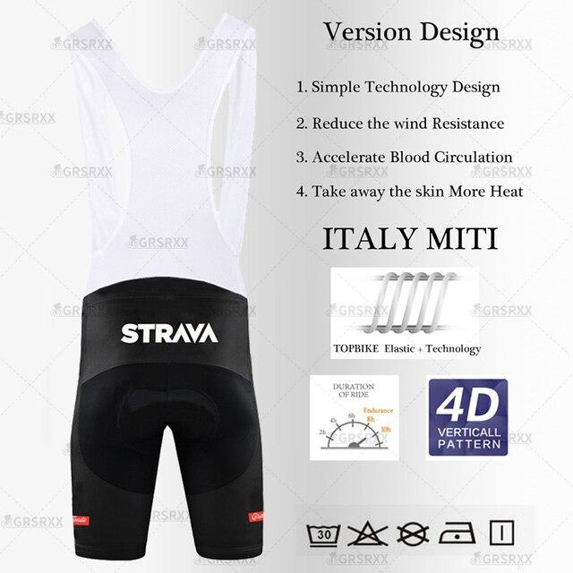 Strava Ciclismo Jersey Conjunto Para Hombre Conjunto De Pantalones Cortos Y Pechera De Verano 2021 De
