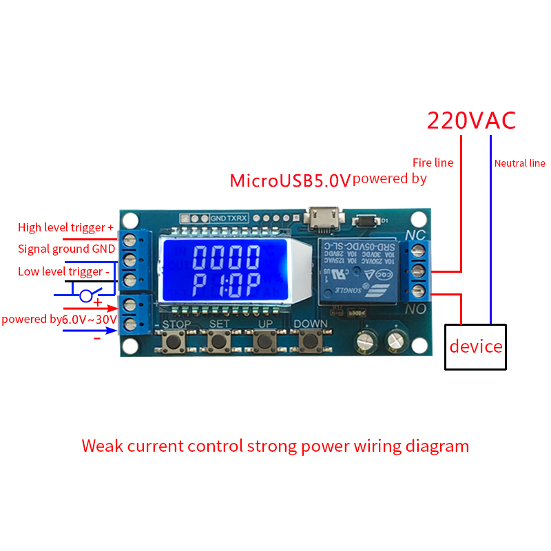 XY-LJ02 One Way Relay Module Delay Power Off Disconnect Trigger Delay Cyclic Timing Circuit Switch