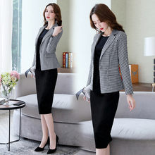 Suits Women Two Piece Set Suit Jacket Blazer Velvet Dress Long Sleeve Black Red Midi Knee Length Autumn Winter Clothes(China)