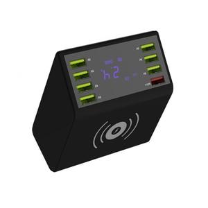 Image 3 - 8 portów USB wyświetlacz LCD pulpit ładowarka podróżna szybkie ładowanie wielofunkcyjna przenośna stacja mobilna doki zasilacz