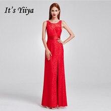 Bridesmaid Dress Lace Plus-Size Yiiya Floor-Length for Girls Backless Vestido Madrinha