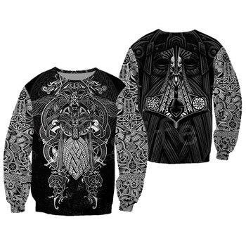 Tessffel Unisex Vikings Tattoo Viking Warriors NewFashion Harajuku MenWomen HipHop 3DPrint zipper/Sweatshirts/Hoodies/Jacket s-5 2