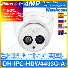 Dahua IPC HDW4433C A 4MP HD POE Network IR Mini Dome IP Camera Starlight Built in MiC HDW4433C A CCTV Camera Replace HDW4431C A