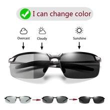 Photochromic Sunglasses Men Polarized Driving Chameleon Glasses Male Change Colo