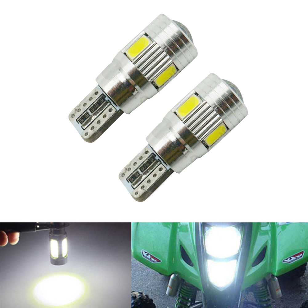 2X T10 W5W Error Free Canbus Projector 6SMD LED Car ParkingLight Bulb White 2