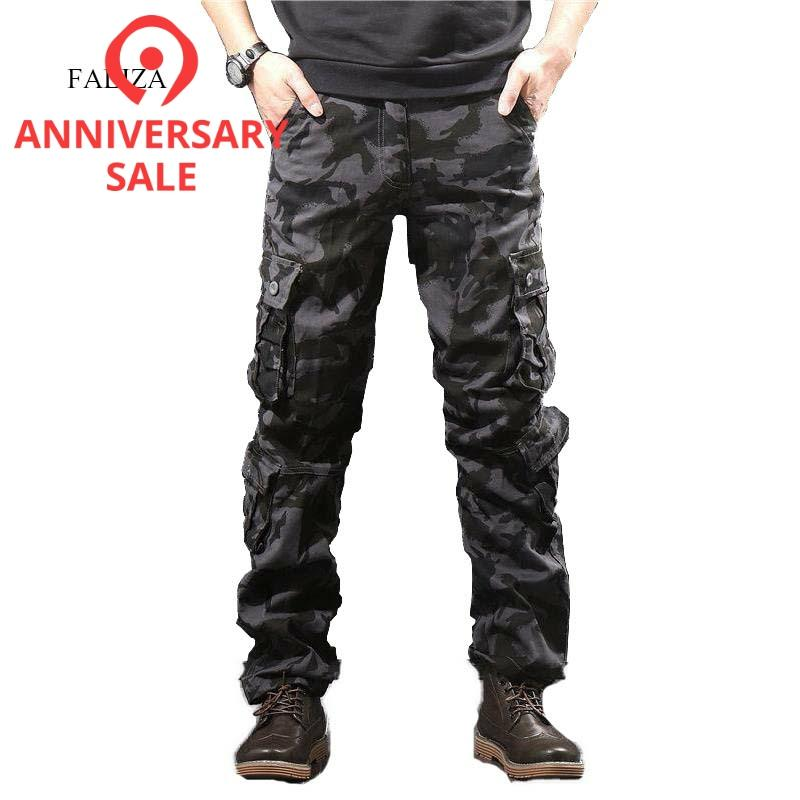 Camouflage Men's Cargo Pants Casual Camo Multi Pockets Military Tactical Pants Hip Hop Joggers Streetwear Pantalon Homme PA21