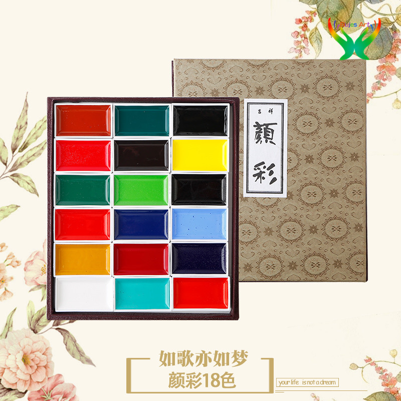 Японский профессиональный Сакура, импортный благоприятный цвет, 12 / 24 / 35 / 48 цветов, твердый акварельный пигмент, набор для начинающих