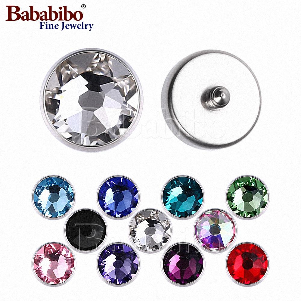 микродермальный якорь пирсинг внутренние резьбовые 1,2 мм Титан 3-7 мм кристалл драгоценный камень топ-Выберите цвет драгоценности-Цена за 1