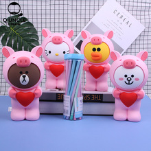 Q UNCLE 3D Kawaii Animal Pencil Case Cartoon Bear Rabbit Fruit Pen Bag Box for Kids Gift Cosmetic Stationery Pouch Makeup Bags