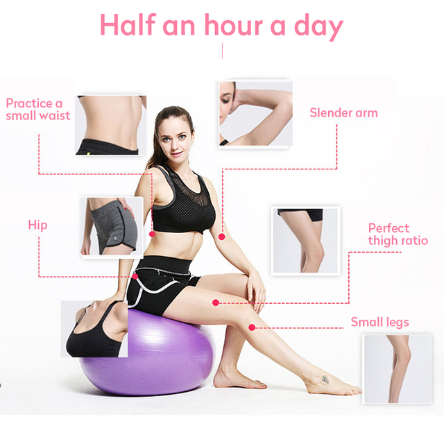 PVC Fitness Balls Yoga Ball Thickened Explosion proof Exercise Home Gym Pilates Equipment Balance Ball 45cm