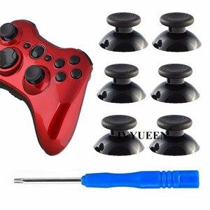 Image 5 - IVYUEEN 6 adet siyah gri 3D Analog sopa Joystick için 360 denetleyici Thumbstick kapaklar X box 360 için Analogical onarım parçaları