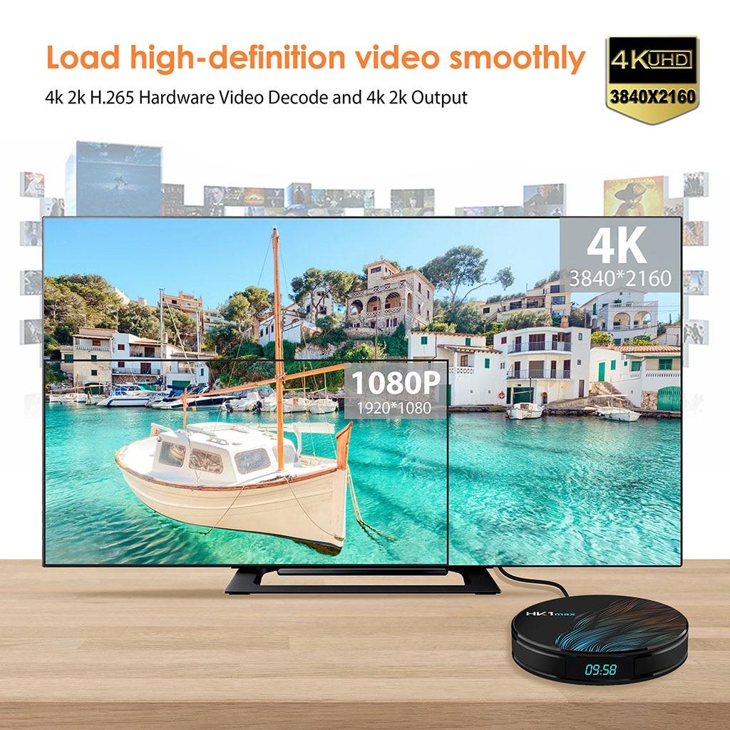 4K Smart TV BOX Android 9.0 HK1 MAX 4GB RAM 128GB ROM 64GB lecteur multimédia HK1MAX décodeur TV 2G/16G PK H96 Max 2019 nouveau - 3