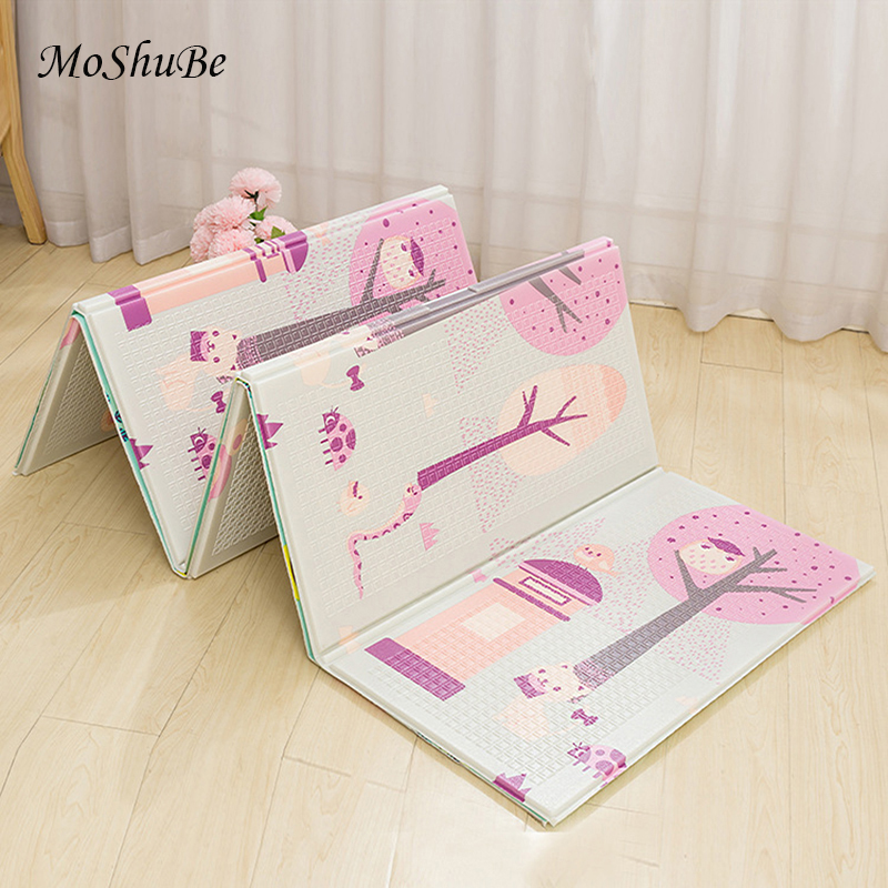 200*150cm Baby Foldable Play Mat Xpe Puzzle Infant Climbing Pad Kids Carpet Activity Games Toys Children's Rug Soft Floor