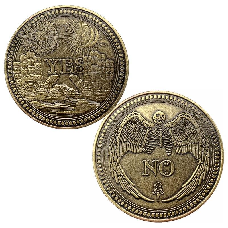 1 шт. металлический «да» или «нет» памятная монета в готическом стиле, да нет письмо Кошелек для монет классический фокусы игрушки домашний ...