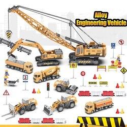 Классический бульдозер кран экскаватор грузовые автомобили Juguetes Carros мальчик сплав инженерный грузовик автомобили игрушки для детей мальч...