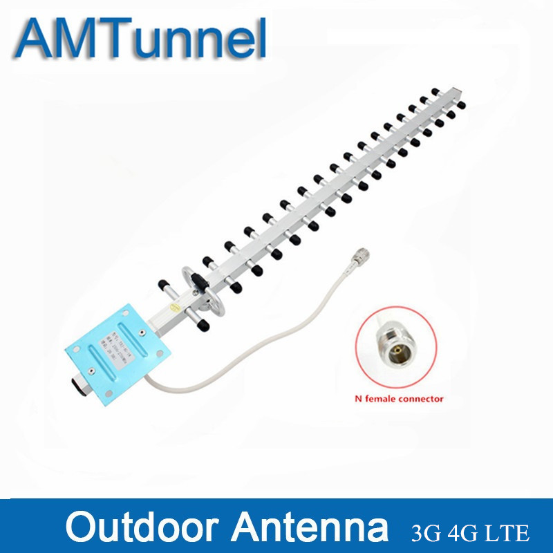 3G 4G Antenna  1710-2170Mhz Yagi Outdoor Antenna N Female 20dBi Directional For Mobile Signal Boosters Amplifiers
