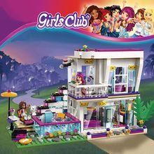 760 шт поп-звезда Livi's House, строительный блок, совместимый с Legoinglys Friends для девочек, фигурки, кубики, развивающие игрушки для детей