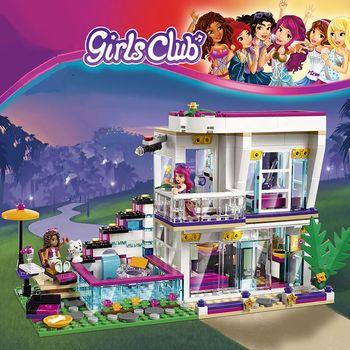 760 Uds. Estrella Pop casa Livi bloques de construcción compatibles Legoinglys amigos para niñas figuras de ladrillos juguetes educativos para niños