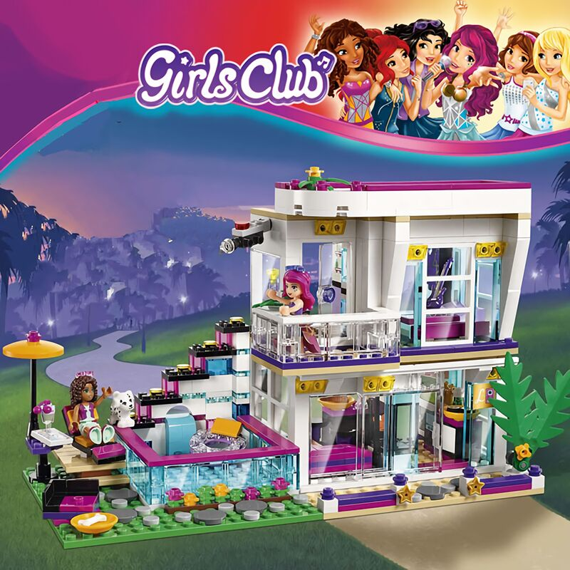 760PCS Pop Star House Building Block Compatível das Livi Legoinglys Amigos para Meninas Figuras Bricks Brinquedos Educativos para Crianças