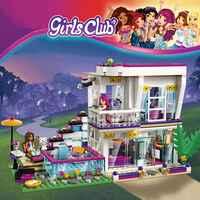760PCS Pop Star Livi der Haus Gebäude Block Kompatibel Legoinglys Freunde für Mädchen Figuren Steine Pädagogisches Spielzeug für Kinder