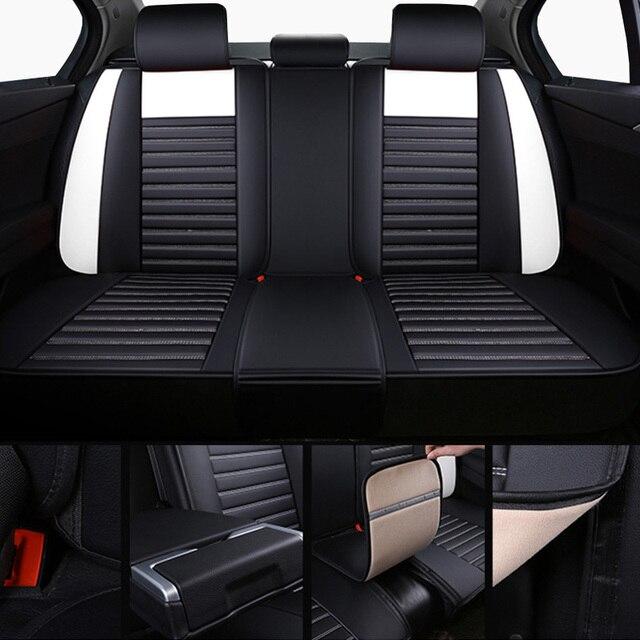 Universel en cuir housses de siège auto pour Chevrolet impala lacetti lanos malibu xl optra orlando silverado de 2018 2017 2016 2015