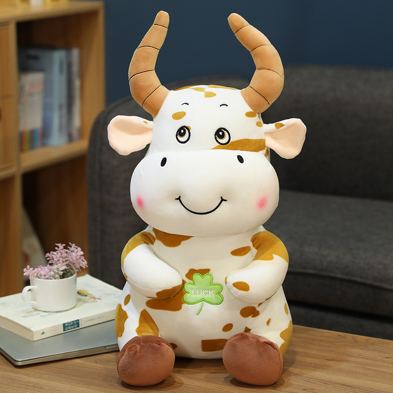 30/35/50/80cm Kawaii Cattle Plush Stuffed Animal Toys Cute Simulation Cow Appease Doll Pillow for Kids Girl Baby Birthday Gifts  - buy with discount