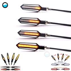 4X LED motosiklet dönüş sinyalleri akan su kuyruk lambası motosikletler yanıp sönen motosiklet dönüş sinyali göstergesi
