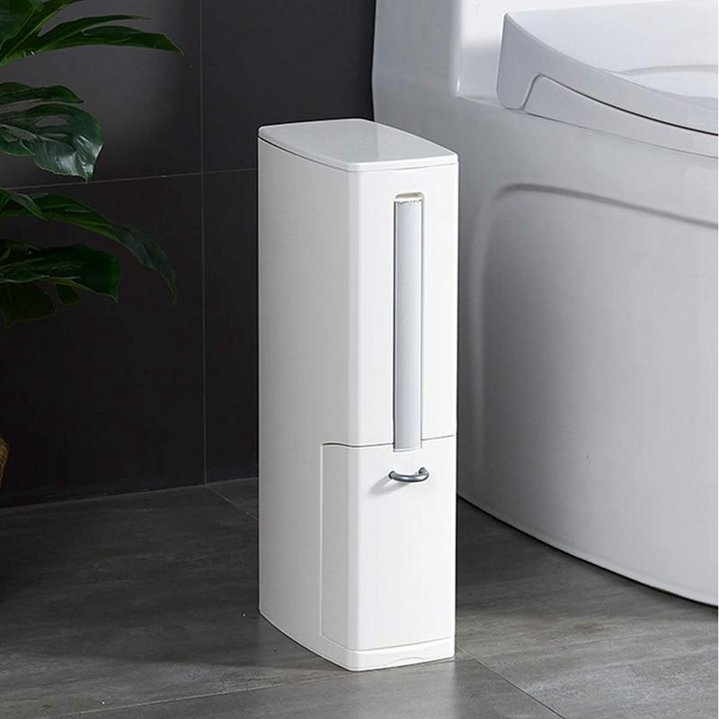 2 conjunto multi função escova de vaso sanitário conjuntos integrados com aleta lidar com forro lata de lixo casa casa de banho suprimentos caixa de armazenamento larga calib - 6