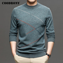 COODRONY Brand Autumn Winter Thick Warm Sweater Men High Quality Merino Wool Sweaters Fashion Casual O-Neck Pullover Men C3034