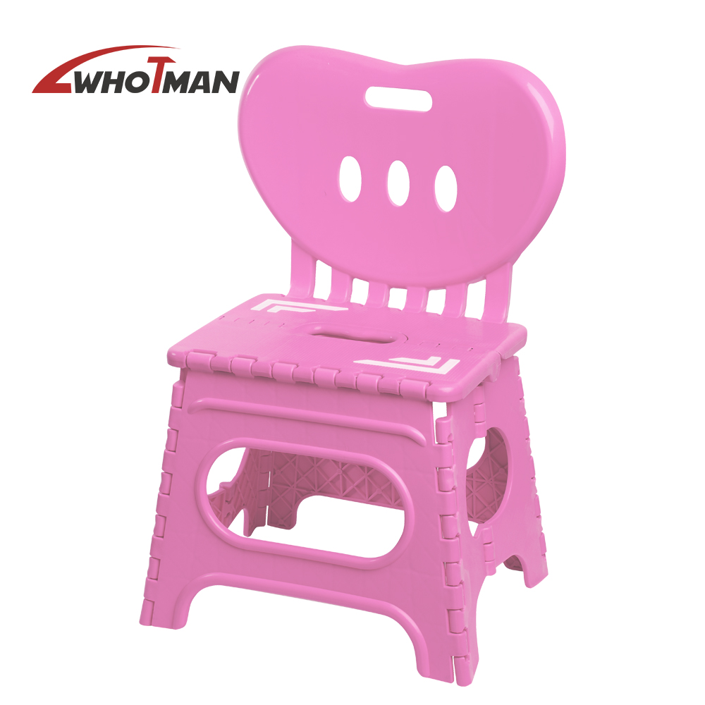 Travel Outdoor Camping Folding Step Stool Plastic Carrying Handle Portable Chair Non-slip Mat Garden Bathroom Stool