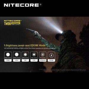 Image 5 - 9500ルーメンnitecore TM9K 9 × cree XP L hd V6 led超コンパクトタクティカルフラッシュライト内蔵21700リチウムイオン5000バッテリー