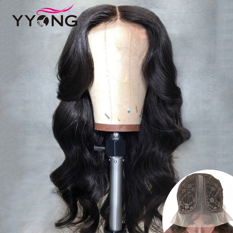 HD 13x6x1 Topline Lace Part Wig Body Wave Long Part Lace  Wig   Lace Part Wig Pre Plucked With Baby Hair 1