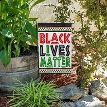 Американский уличный баннер черный флаг жизни материя Садовый
