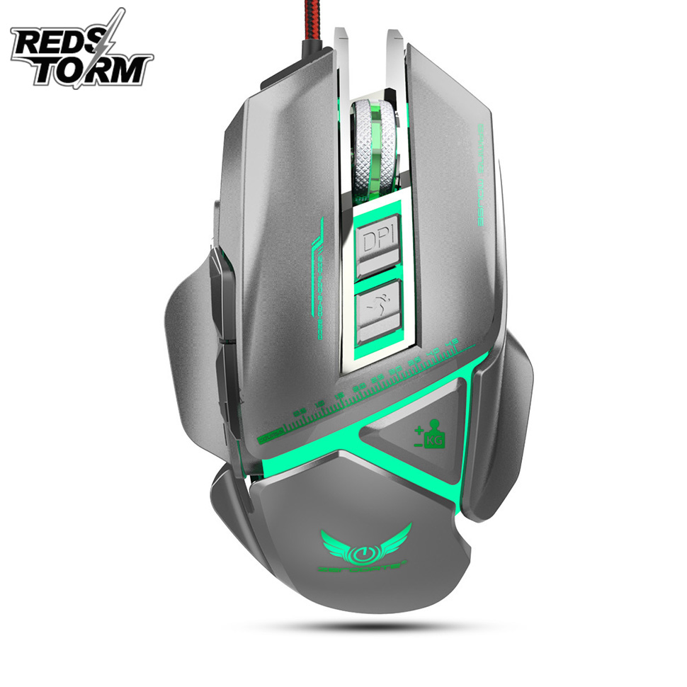 EasySMX G820 Optical Gaming Mouse 3200 DPI 6 Buttons Ergonomic Design for Desktop PC Gamers LOL PUBG Fornite Overwatch