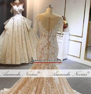 Image 4 - 2019 abito da sposa Mermaid ordine del cliente di colore stile della spiaggia di modo del vestito