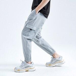 Image 3 - Мужские тактические брюки Pioneer Camp, повседневные свободные джоггеры размера плюс, хлопковые брюки с карманами, шаровары, AXX908027