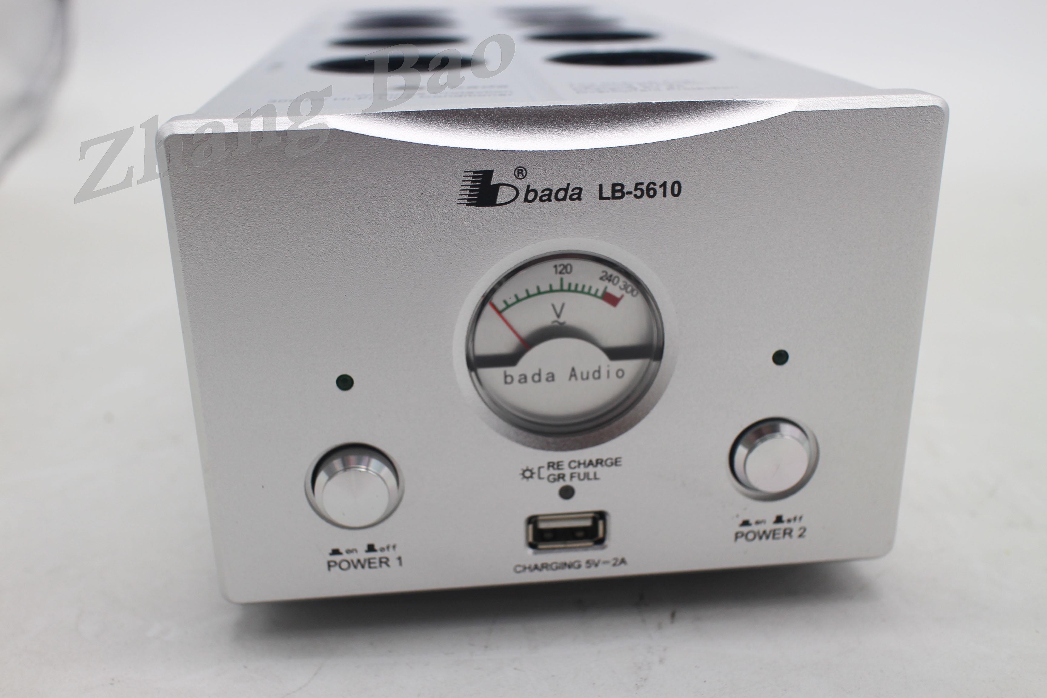Bada 5610-filtro de Audio de estándar europeo, potente Filtro de fuente de alimentación de 2 canales con salida USB de 5V y 2A