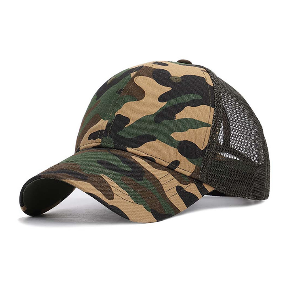 Cap - Sunshade Baseball Cap, Breathable Cotton Ponytail Hat, Outdoor Sports Wear With Adjustable Back Closure