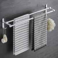Bathroom Tower Shelf Non drilling Bath Towel Holder Hanging Storage Rack Organizer For Home Bathroom Supplies Towel Bars     -