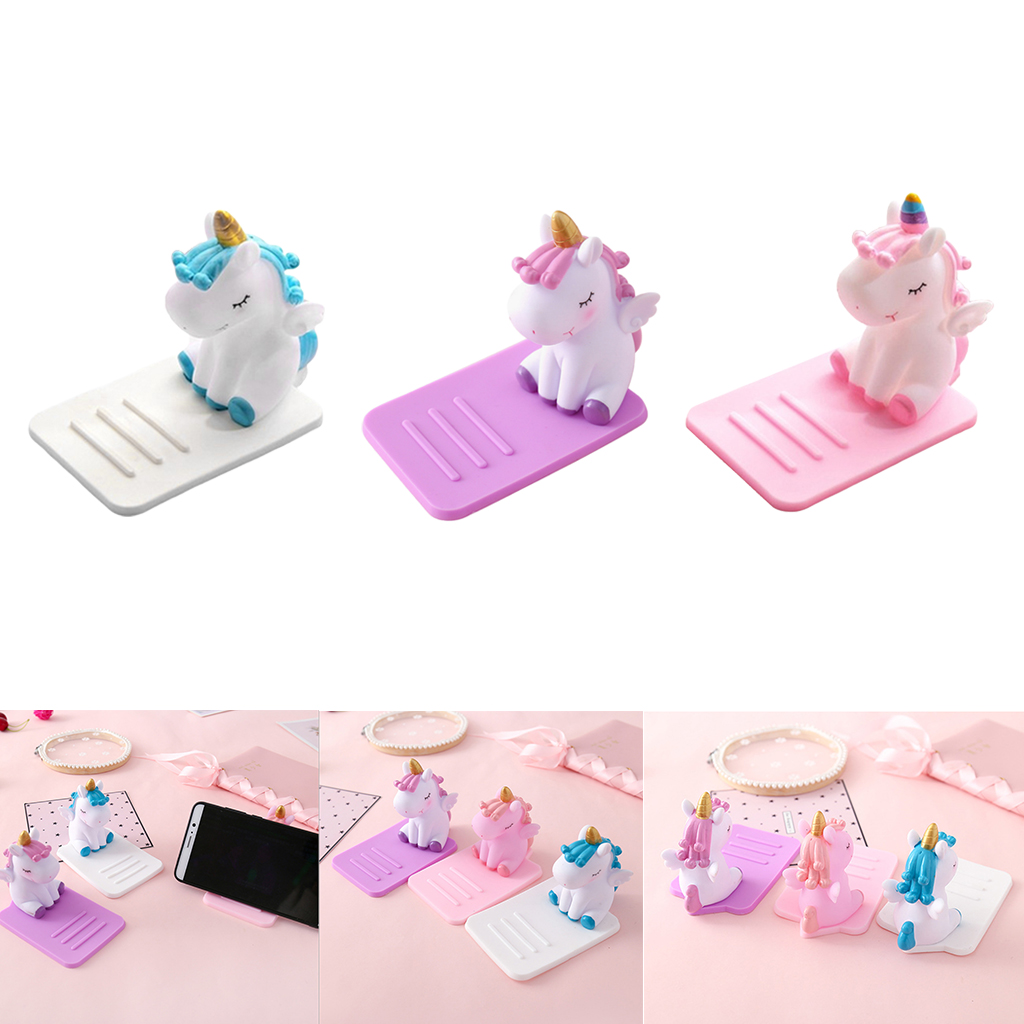 Cute Anti-Slip Cartoon Unicorn Phone Stand Mobile Phone Holder Support Desk Decor Phone Bracket For Phone
