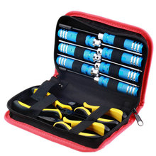 цена на 10pcs Helicopter Steel Portable Practical RC Tool Kit Plane With Storage Bag Pliers Professional Screwdriver Toy Repair