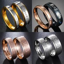 MeMolissa nunca se desvanece compromiso chapado en oro plata para siempre carta de amor accesorios de joyería mujeres y hombres boda pareja anillos