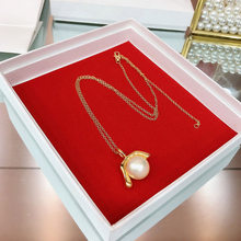 mling8 2019Hot brand luxury pearl necklace gold high-quality copper pendant necklace retro design fashion prom women's necklace(China)