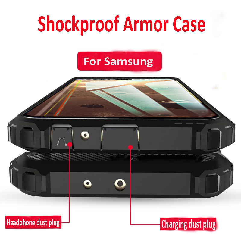 Armor Luxury Case Bumper Silicone Phone Case For <font><b>Samsung</b></font> <font><b>Galaxy</b></font> A50S A70 A10S <font><b>A20S</b></font> A30S M10S M20S M30S M40 A5 A7 2018 Case Cover image