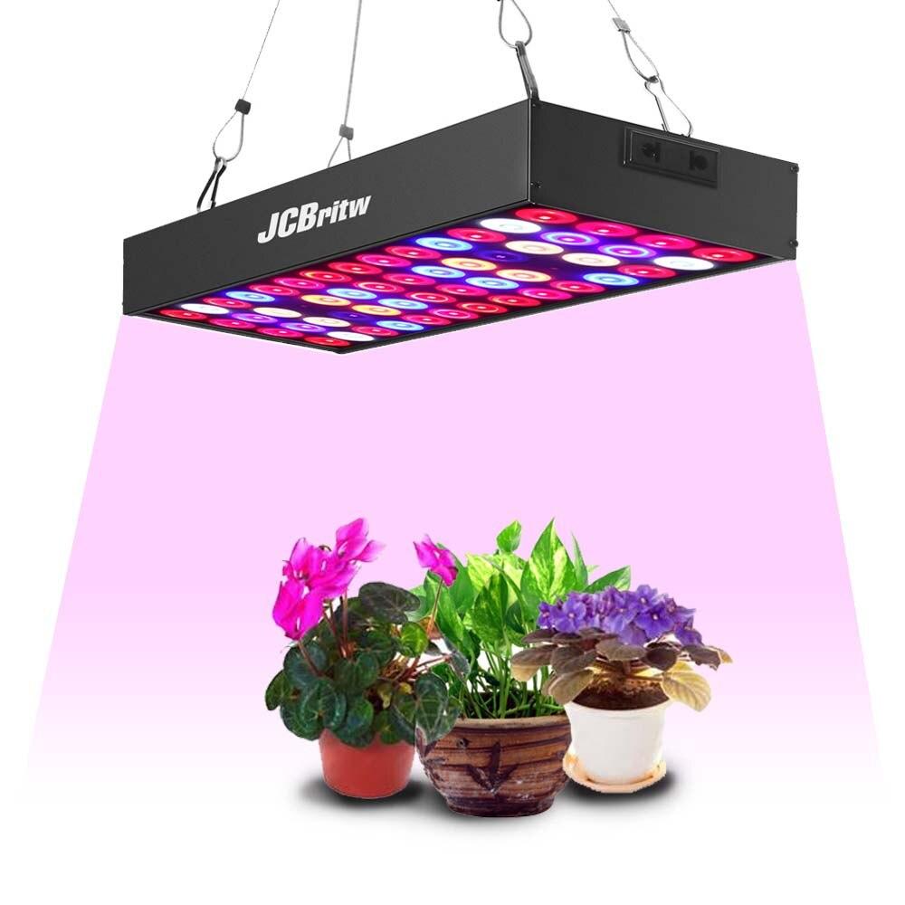 JCBritw светодиодный светильник для выращивания панель полный спектр с УФ ИК ромашка цепи 30 Вт Pro лампы для выращивания гидропоники подвесной комплект для комнатных растений